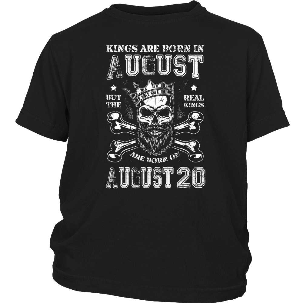 The Real Kings Are Born On August 20 Tee Shirt