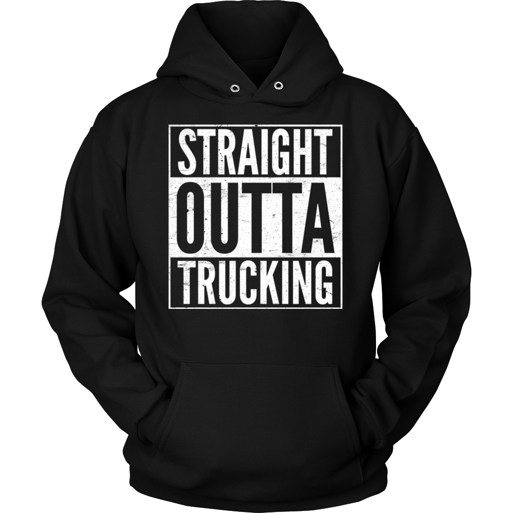 Straight outta trucking cool t-shirt