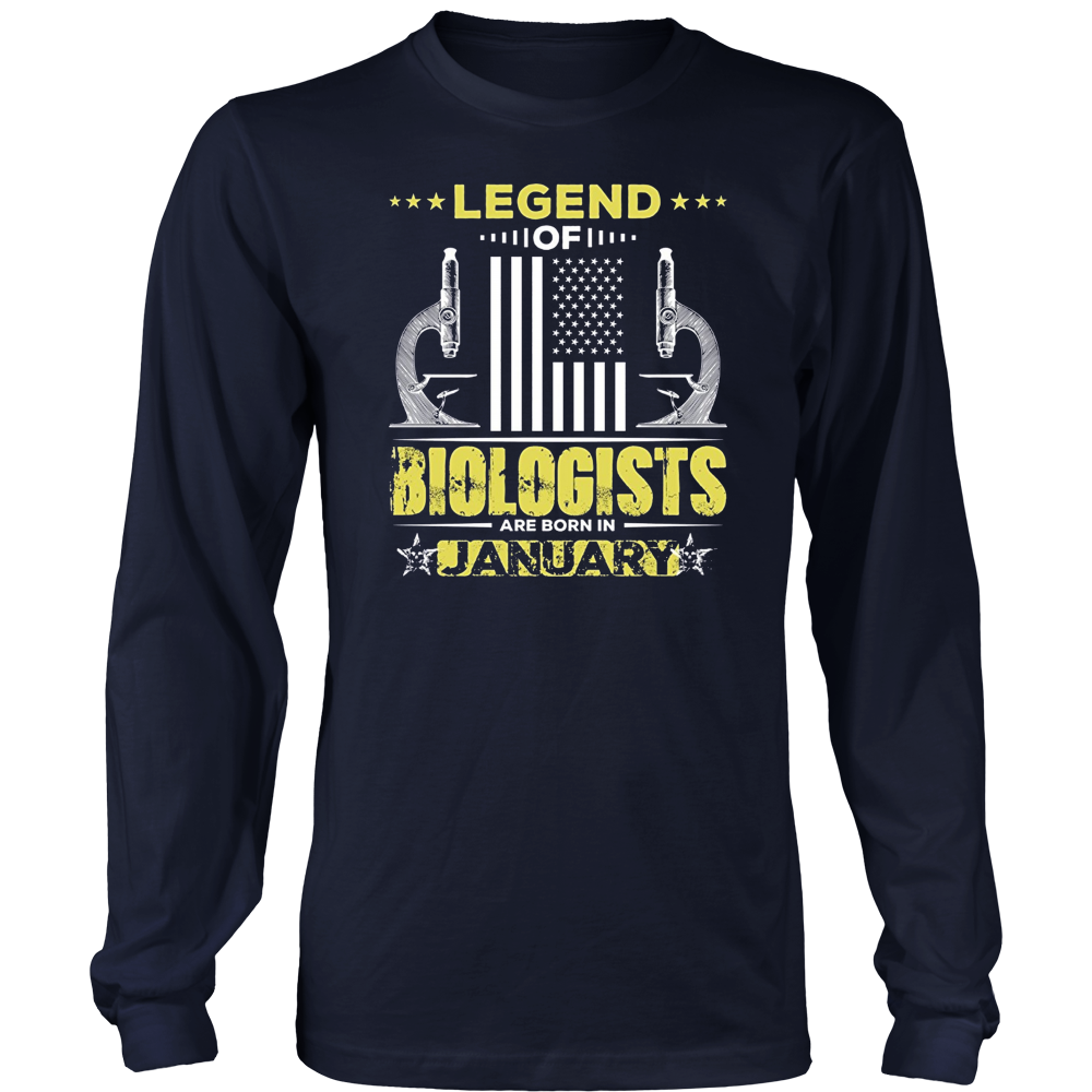 Biologist T shirt Legend of Biologists Are Born In January