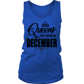 Women's Queens Are Born In December T-Shirt
