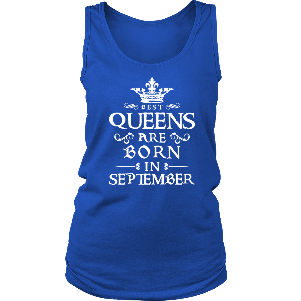 Womens Best Queens Are Born in SEPTEMBER White3 T-shirt