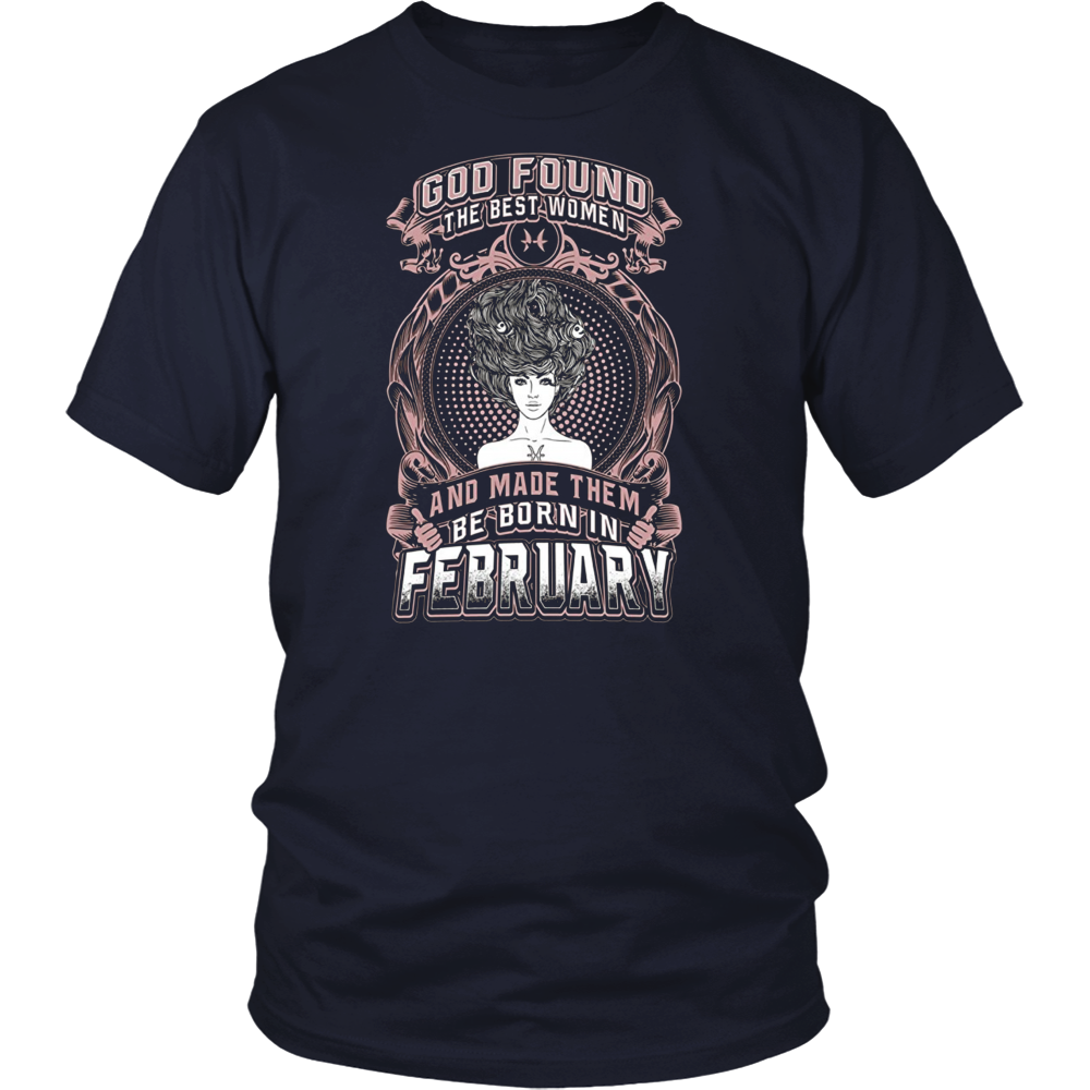 The Best Are Born In February T-Shirts Birthday Gift Shirt