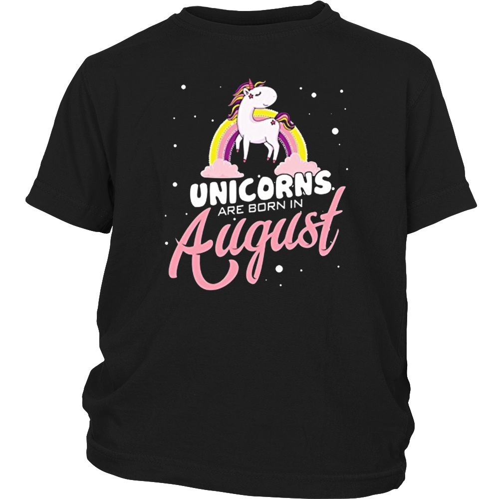 Special Unicorns Are Born In August Birthday T-Shirt