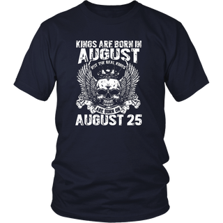 The Real Kings Are Born On August 25th T-Shirt Leo Zodiac