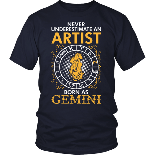 Never Underestimate An Artist Born As Gemini Tshirt