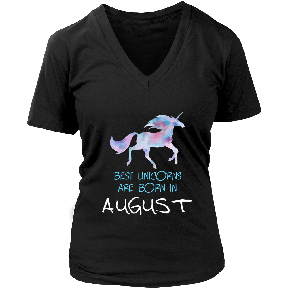Best Unicorns Are Born In August T-Shirt