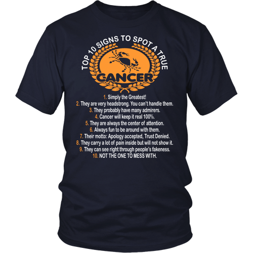Ten Signs True Cancer Not To Mess With Tshirt