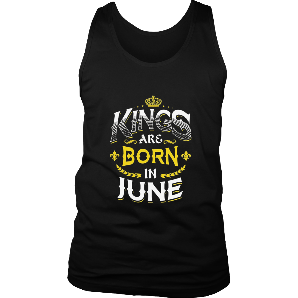 King are born in June Tshirt Birthday gift shirt