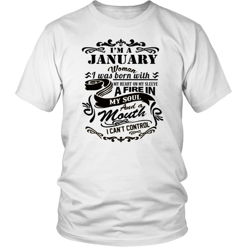 i'm A January Woman 2018- Birthday Gift T-Shirt