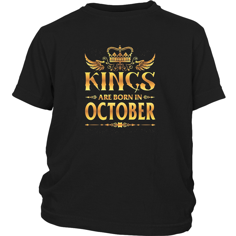 Funny T-Shirt Kings Are Born In October