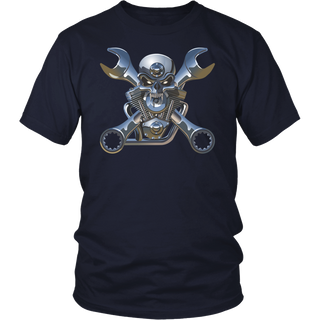 Skull motorcycle engine Tshirt