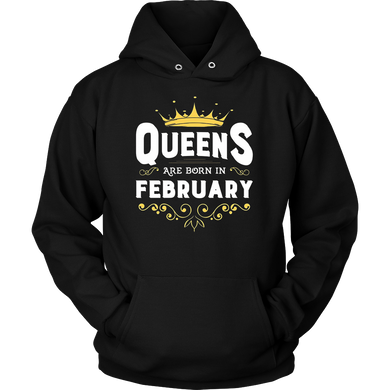 Queen are born in February - Aquarius Zodiac Horoscope shirt
