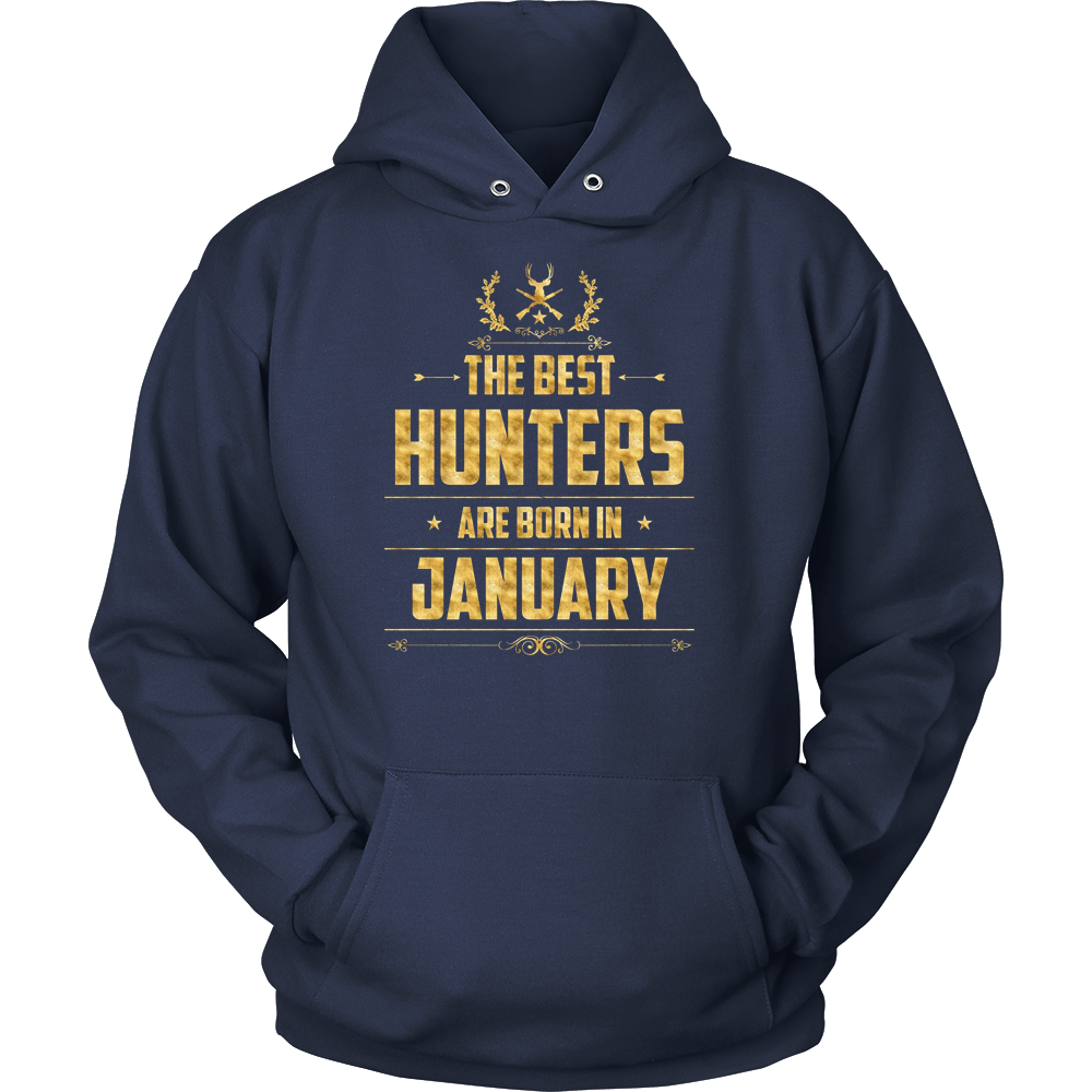 The best Hunters are born in January T-Shirt Gold Foil