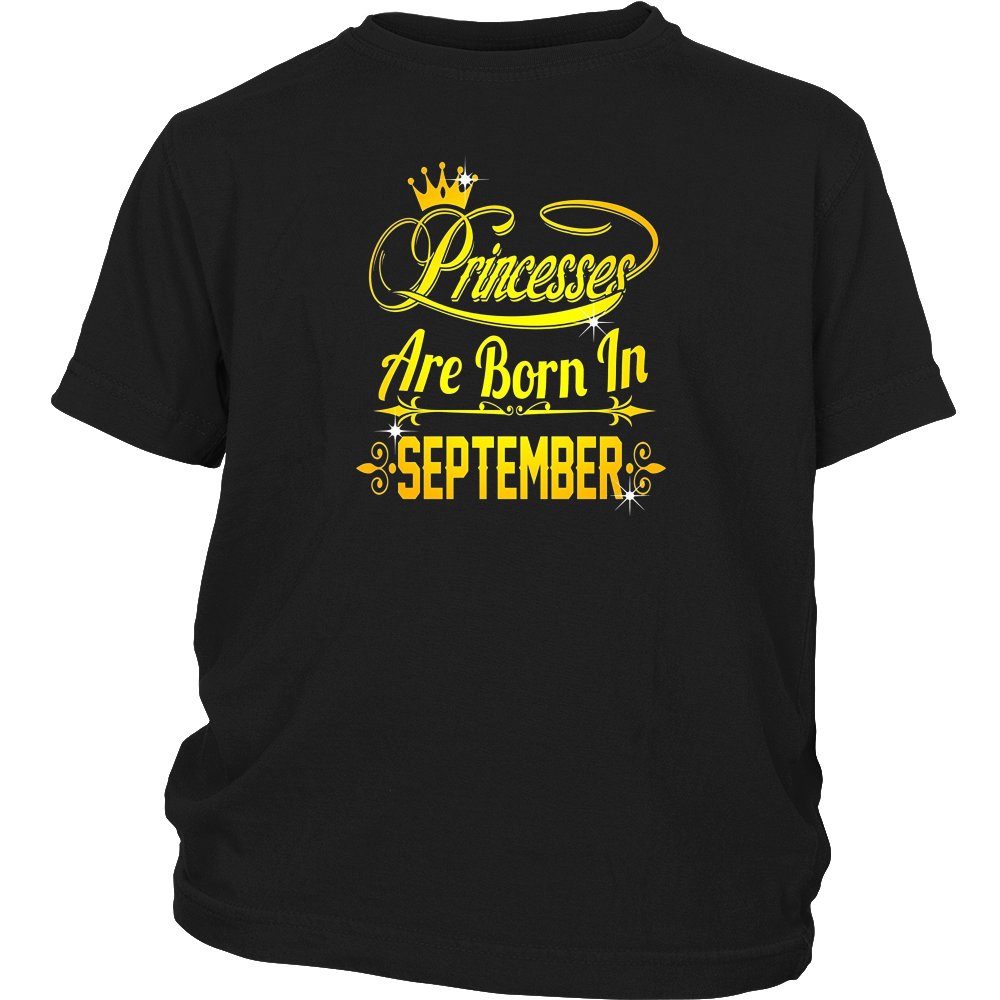 Princesses Are Born In September shirt