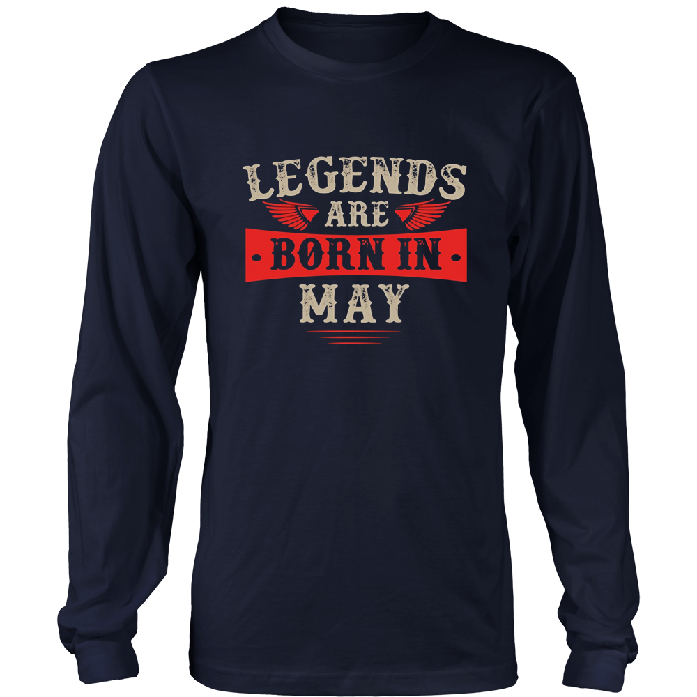 Legends Are Born In May T-Shirt - Top Gold Vintage Edition