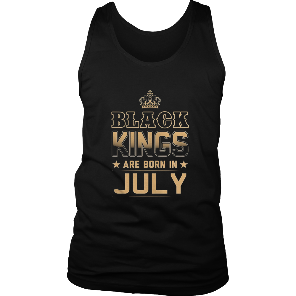 Black Kings Are Born In July T-Shirt Birthday Gift