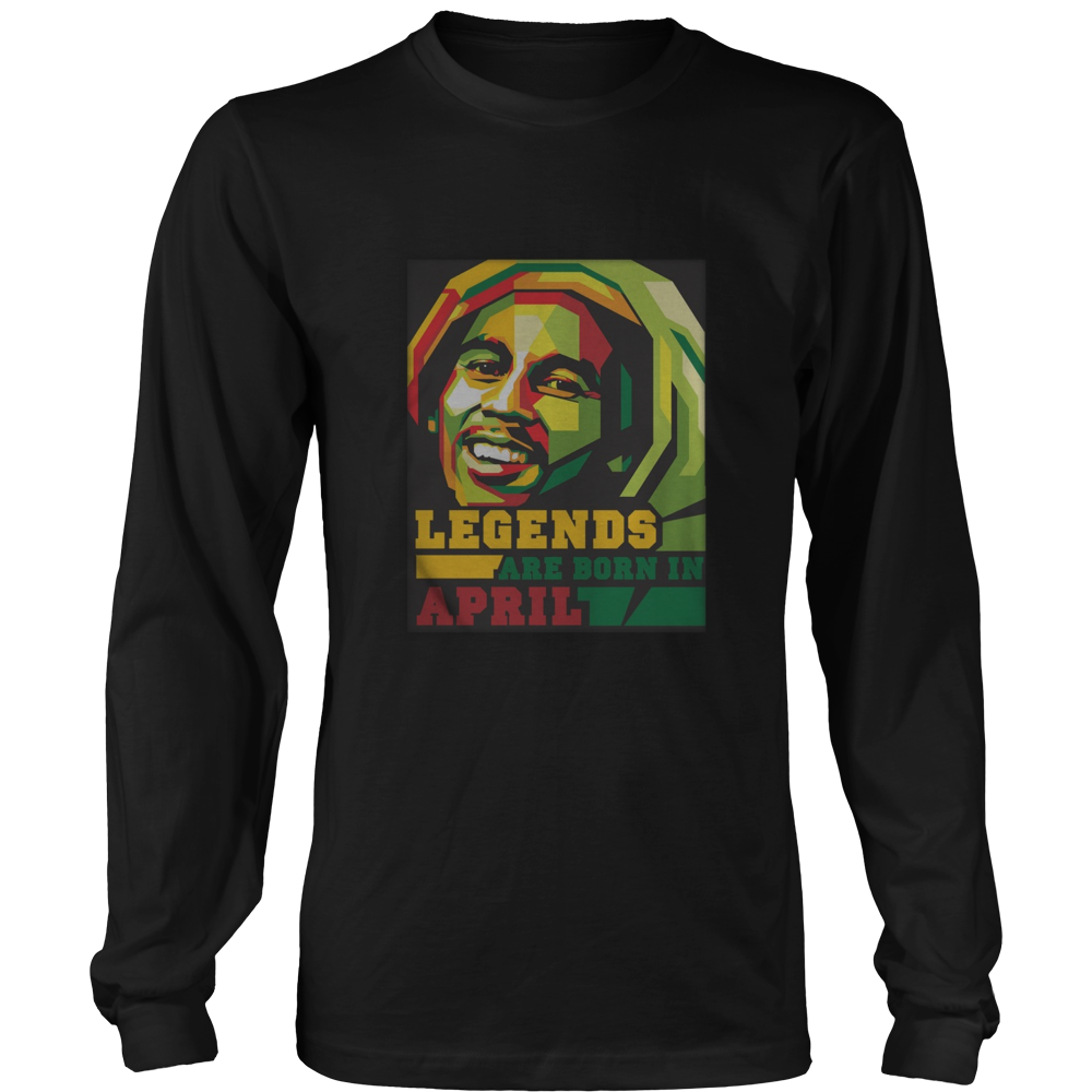 Mens Mens Legends are born in April-Mens Dads Tshirt