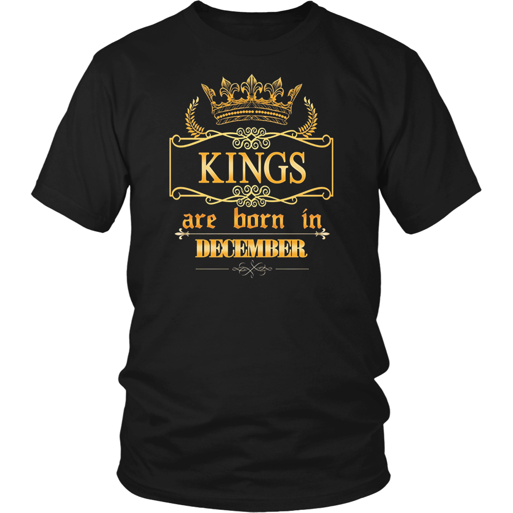 Kings are born in December- Birthday Gift T-shirt