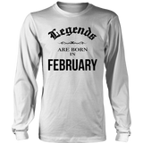 Birthday Legends are born in February Funny Shirt Quotes Hoodie