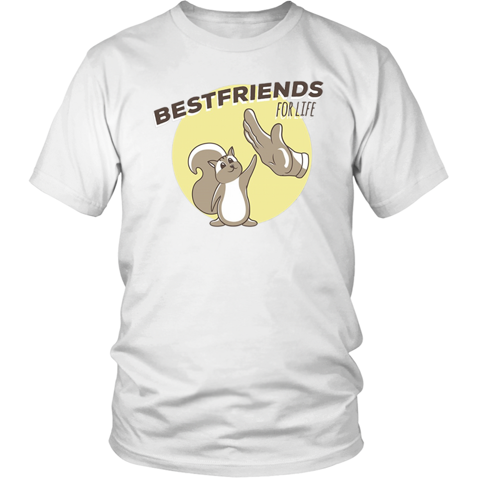 Best Friends For Life Squirrel Animals Pet Love Cute T-Shirt