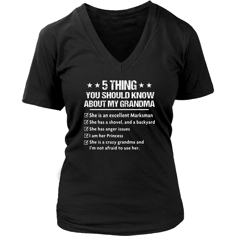 5 Things You should Know About My Grandma T-Shirt
