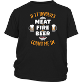 Barbecue BBQ Long Sleeve T Shirt If Involves Meat Fire Beer Quotes Hoodie
