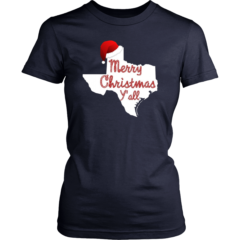 Merry Christmas Y'all Funny Texas Christmas T-Shirt