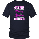 Birthday Queens Are Born On February 03  Funny Shirt Quotes Hoodie