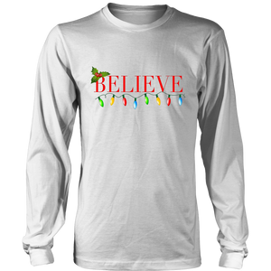 Believe Christmas Shirt-Holiday gifts
