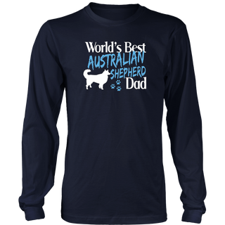Australian Shepherd T Shirt Gift for Dad Dog Owners