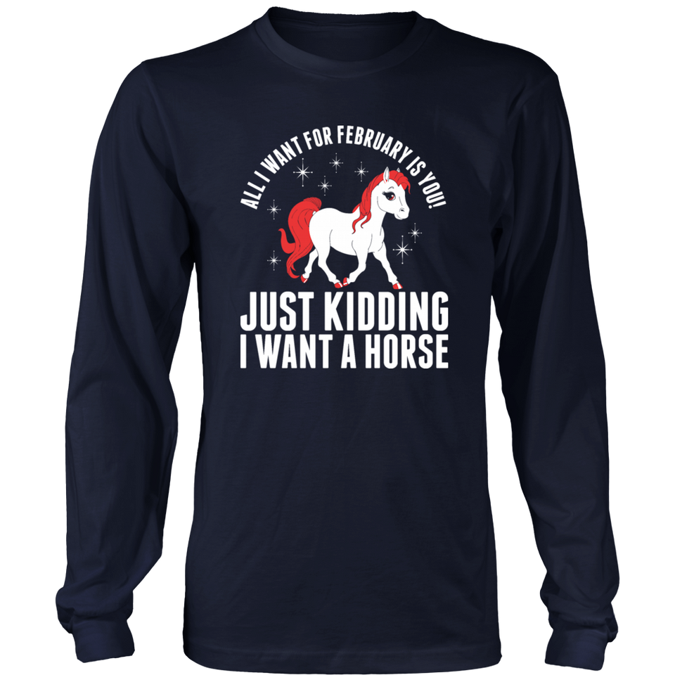 All I Want For February Horse Hoodie Tank-Top