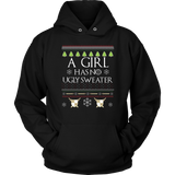 A Girl Has No Ugly Sweater Long Sleeve Shirt Xmas Gift Quotes Hoodie