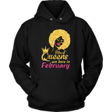 Black Queen Are Born In February Shirt Quotes Hoodie