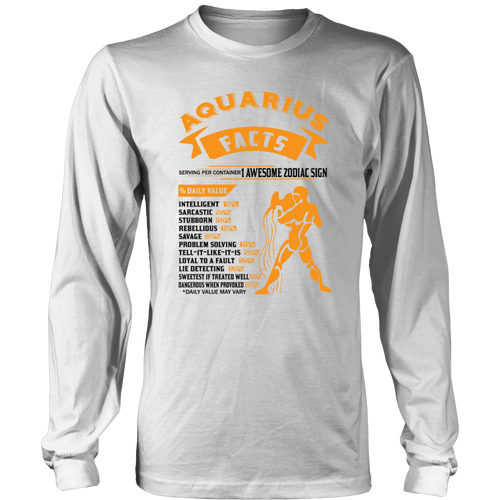 Aquarius Facts Serving Per Container T-Shirt