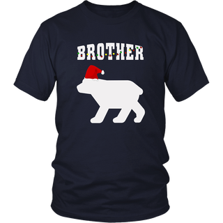 Brother Bear Santa Hat Christmas Pajama Matching T-Shirt