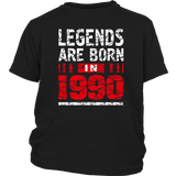 27th Year Old Man Shirt Gift Legends Are born in 1990 Tee Quotes Hoodie