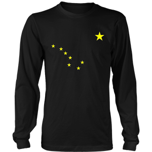 Alaska T-Shirt State Flag Astrology Big Dipper Polaris Tee