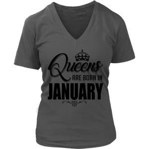 Queens Are Born In January T-Shirt 2018