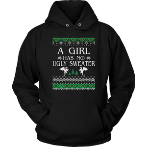 A Girl Has No Ugly Sweater T-Shirt Christmas Gift for Womens