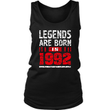 25th Year Old Man Shirt Gift Legends Are born in 1992 Tee Quotes Hoodie