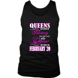 Birthday Queens Are Born On February 20 Men's Women's T Shirt Quotes Hoodie