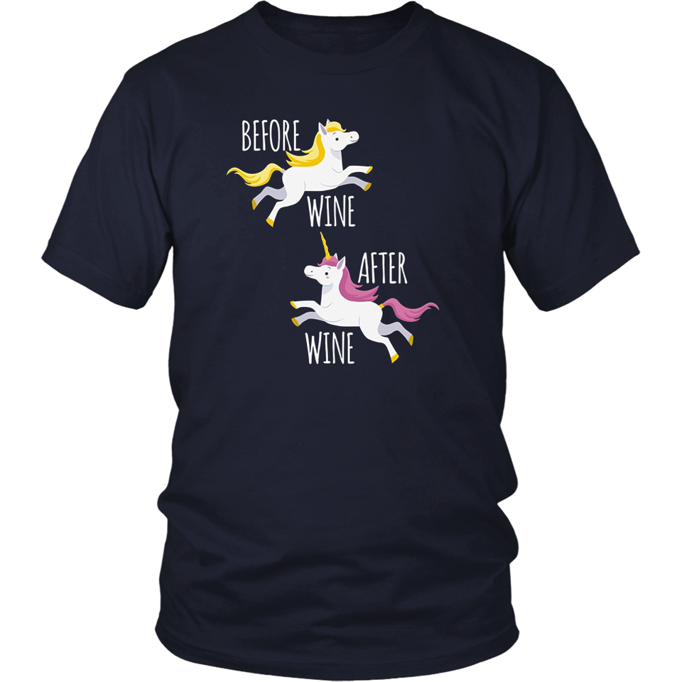 Before Wine After Wine Shirt Unicorn Squad Tee