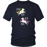 Before Wine After Wine Shirt Unicorn Squad Tee Quotes Hoodie