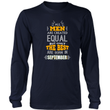 All Men Are Created Equal But Only The Best Are Bo Funny Shirt Quotes Hoodie