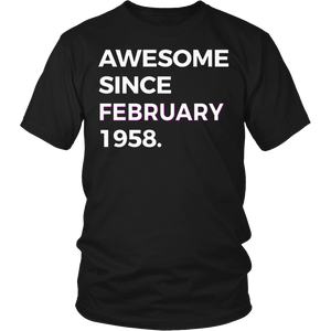 Awesome Since February 1958 - 60th Birthday Shirt Gift