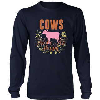 Cows Make Me Happy T-Shirt Gift For Farmer Christmas Shirt