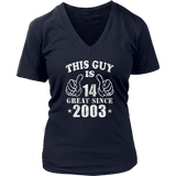 14th Birthday Gifts Shirt This Guy Is 14 Years Old T-Shirt Hoodie - Tank-Top Quotes Hoodie