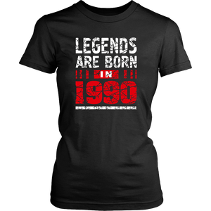 27th Year Old Man Shirt Gift Legends Are born in 1990 Tee