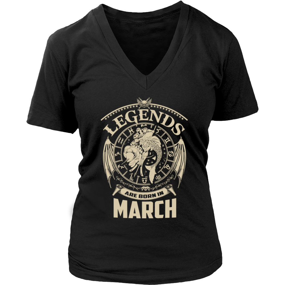 Legends Are Born In March - Funny Birthday T-Shirt