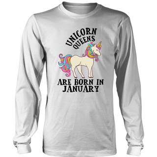 Unicorn Queens Are Born In January Birthday Gift